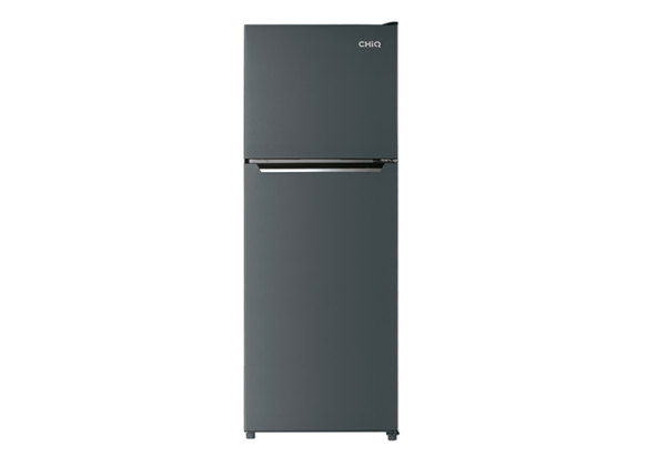 New - Chiq 370L Black Steel Top Mount CTM369B 1 | Fridge Factory