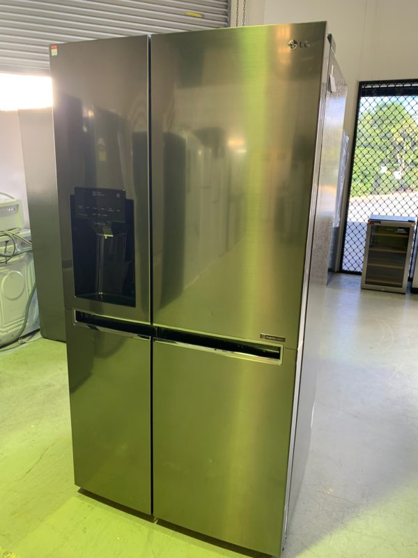 Factory Second - LG 670L Side by Side Stainless Steel GS-L668PNL 1 | Fridge Factory