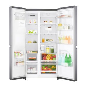 Factory Second - LG 670L Side by Side Stainless Steel GS-L668PNL 2 | Fridge Factory