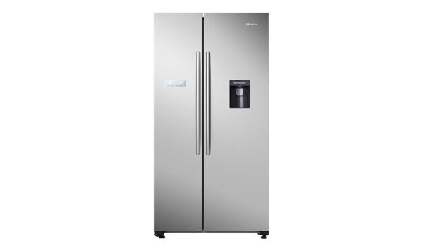 Factory Second - Hisense 624L Side by Side Stainless Steel HR6SBSFF624SW 1 | Fridge Factory