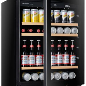 Factory Second - Vintec 100 Beer Bottle / 40 Bottle Wine Fridge V40BVCBK 3 | Fridge Factory