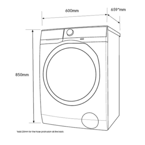 Factory Second - Electrolux 10kg Front Load Washing Machine EWF1042BDWA 3 | Fridge Factory