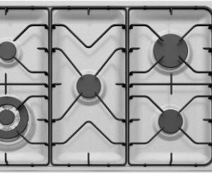 90cm 5 burner stainless steel gas cooktop WHG953SB 2 | Fridge Factory