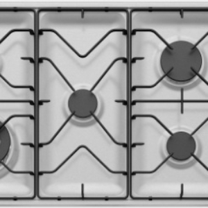 90cm 5 burner stainless steel gas cooktop WHG953SB