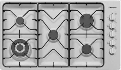 90cm 5 burner stainless steel gas cooktop WHG953SB 1 | Fridge Factory