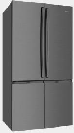 600L Dark Stainless 4 door French Door WQE6000BA 1 | Fridge Factory